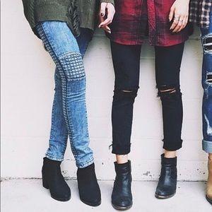 Motorcycle skinny jeans